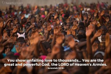 je 32 african people raising hands multitude